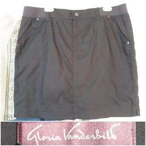 Gloria Vanderbilt Skort Shorts With Skirt Overlay